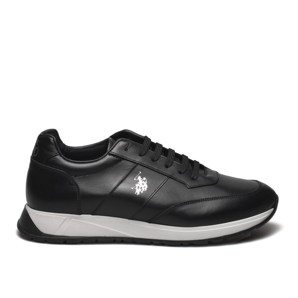 US POLO PREMIUM ΑΝΔΡΙΚΑ ΔΕΡΜΑΤΙΝΑ SNEAKERS NICKY BLACK