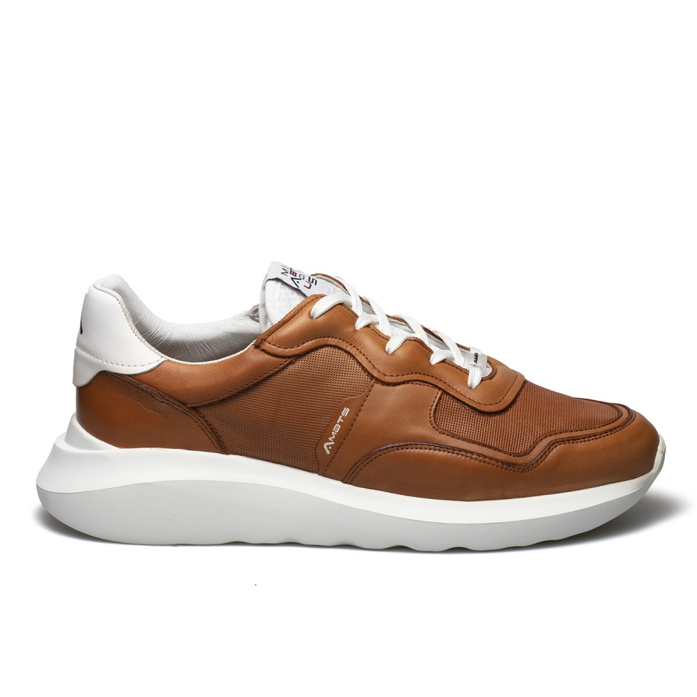 AMBITIOUS ΑΝΔΡΙΚΑ ΔΕΡΜΑΤΙΝΑ SNEAKERS 10439-5839 ΤΑΜΠΑ